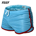 TQQT men underwear fashion boxer shorts solid shorts for men plus size casual mesh boxer shorts gyms underwear 5 colors 5P0415