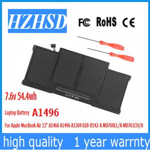7.6v 54.4wh new Original A1496 Laptop Battery For APPLE MACBOOK AIR 13.3 2013-2014 A1466 MD760 MD761