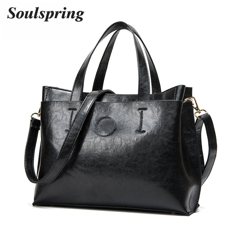 Brand Pu Leather Bags Women Designer Handbags High Quality Shoulder Bag Woman Fashion Ladies Hand Bags Black Tote Bags New Sac 2017 new women leather handbags fashion shell bags letter hand bag ladies tote messenger shoulder bags bolsa h30