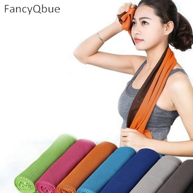 9 Colors 90*33cm Hot Summer Sport Ice Towel Utility Enduring Instant Cooling Face Towel Heat Relief Reusable Chill Cool Towel