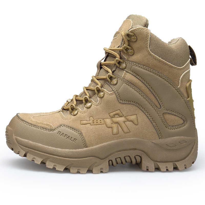 2019 Desert Militaire Tactische Laarzen Mannen Leger Outdoor Wandelen Boot Winter Mannen Mode Casual Schoenen Comfortabele Enkel Snowboots