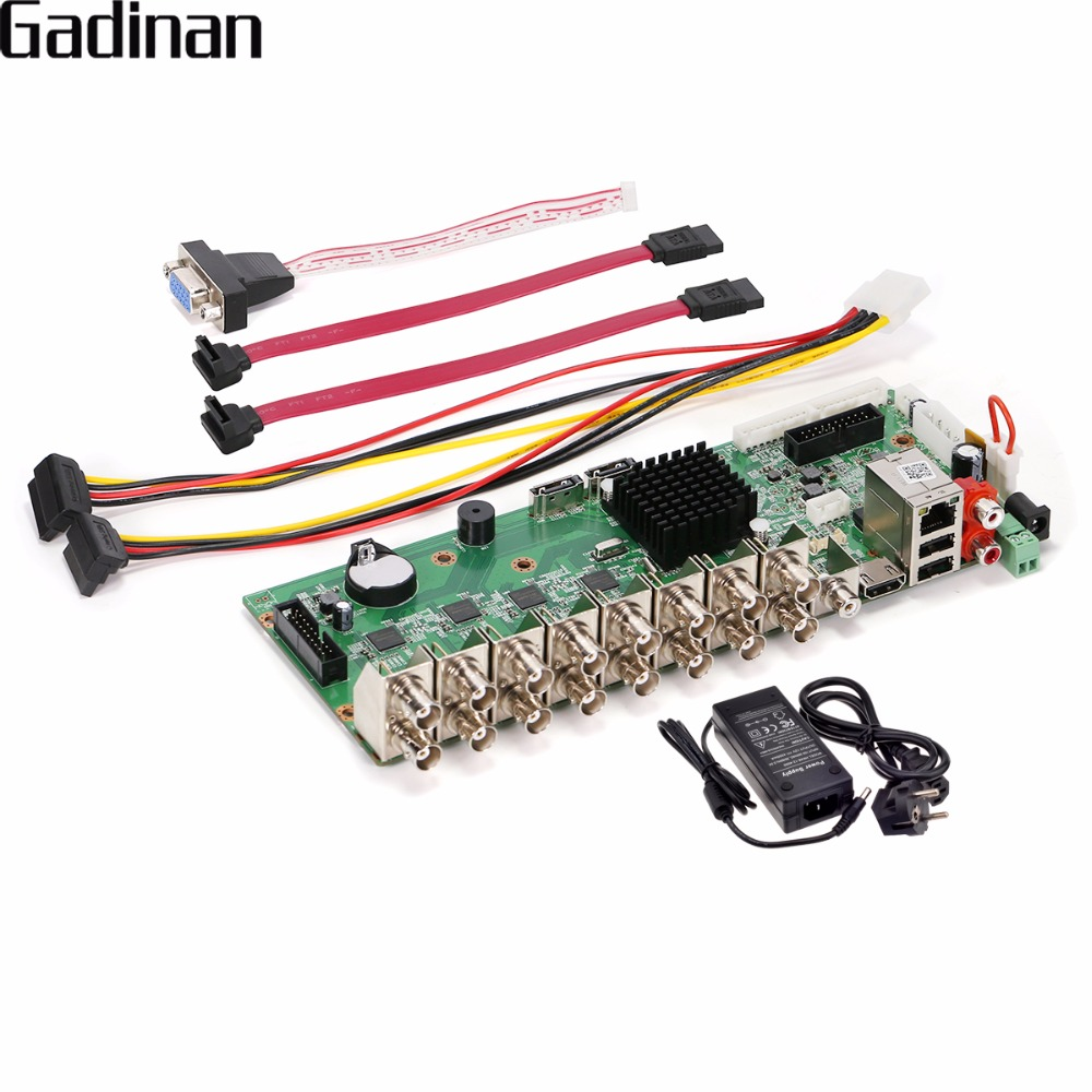 GADINAN AHD 16CH 1080N CCTV H.264 Network Video Recorder 16 Channel Hybrid AHD/CVI/TVI/CVBS HDMI Video Output 5 in 1 Main BOARD 5 in 1 security cctv dvr 4ch ahd 1080n h 264 hybrid video recorder for ahd tvi cvi analog ip camera onvif hdmi 1080p output