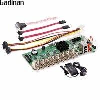 GADINAN AHD 16CH 1080N CCTV H.264 Réseau Enregistreur Vidéo 16 canal Hybride AHD/CVI/TVI/CVBS HDMI Output DIY 5 dans 1 Principale CONSEIL