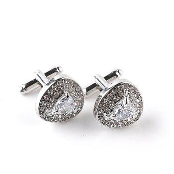Luxury Cufflinks Men's  Zircon Black /Purple Crystal Cufflinks 4