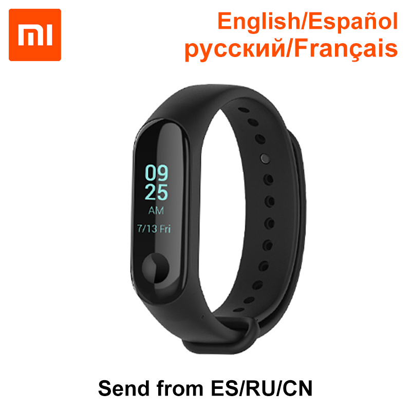 Xiaomi Mi Band 3 English Spanish 0.78 inch OLED Notification Receive Call Reminder 50m Waterpfoof Weather Display Mi Bracelet