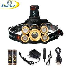 20000 Lumens Waterproof XML T6 +4*XPE LED Zoom Headlamp Tactics Headlight Head Lamp Flashlight For Bicycle light kit