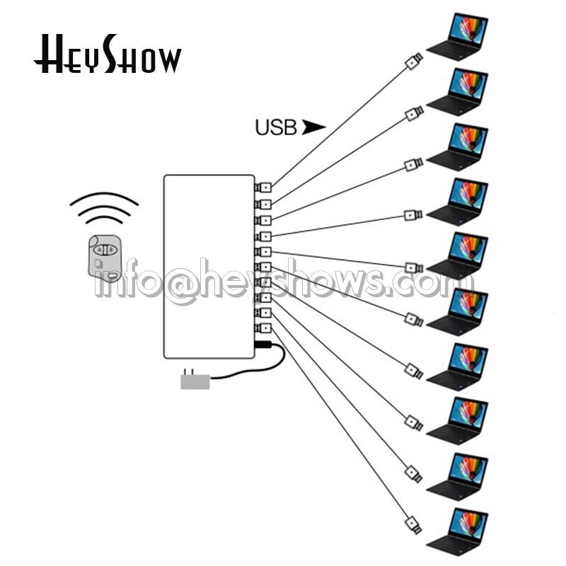 4 6 8 10 ports système d'alarme de sécurité pour ordinateur portable PC Anti-vol boîte d'affichage ordinateur portable alarme antivol pour exposition de magasin Mobile - 6