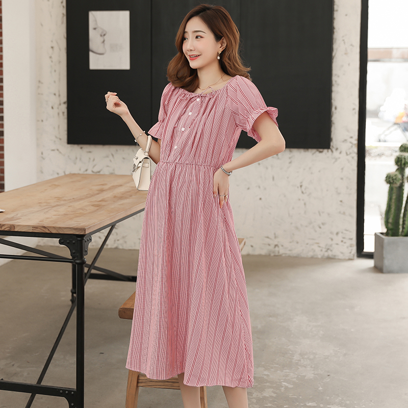 9125# 2 Way Wear Summer Fashion Maternity Party Long Dress Slim Loose Clothes for Pregnant Women Sweet Strip Pregnancy Clothing9125# 2 Way Wear Summer Fashion Maternity Party Long Dress Slim Loose Clothes for Pregnant Women Sweet Strip Pregnancy Clothing