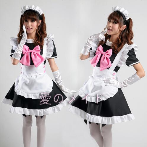 Japanese Hot Anime Cosplay Costume Restaurant Maid Housewife Cosplay Costume Cloth <font><b>Lolita</b></font> <font><b>Dress</b></font> image