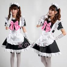 Anime japonés caliente cosplay restaurante ama de casa mucama cosplay lolita dress paño