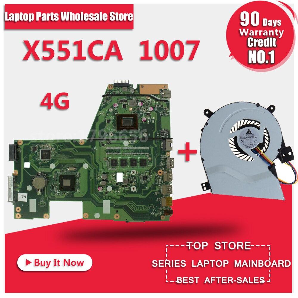 HOT F551CA R512CA X551CA X551CAP Laptop motherboard X551CA mainboard REV2 2 1007u free shipping