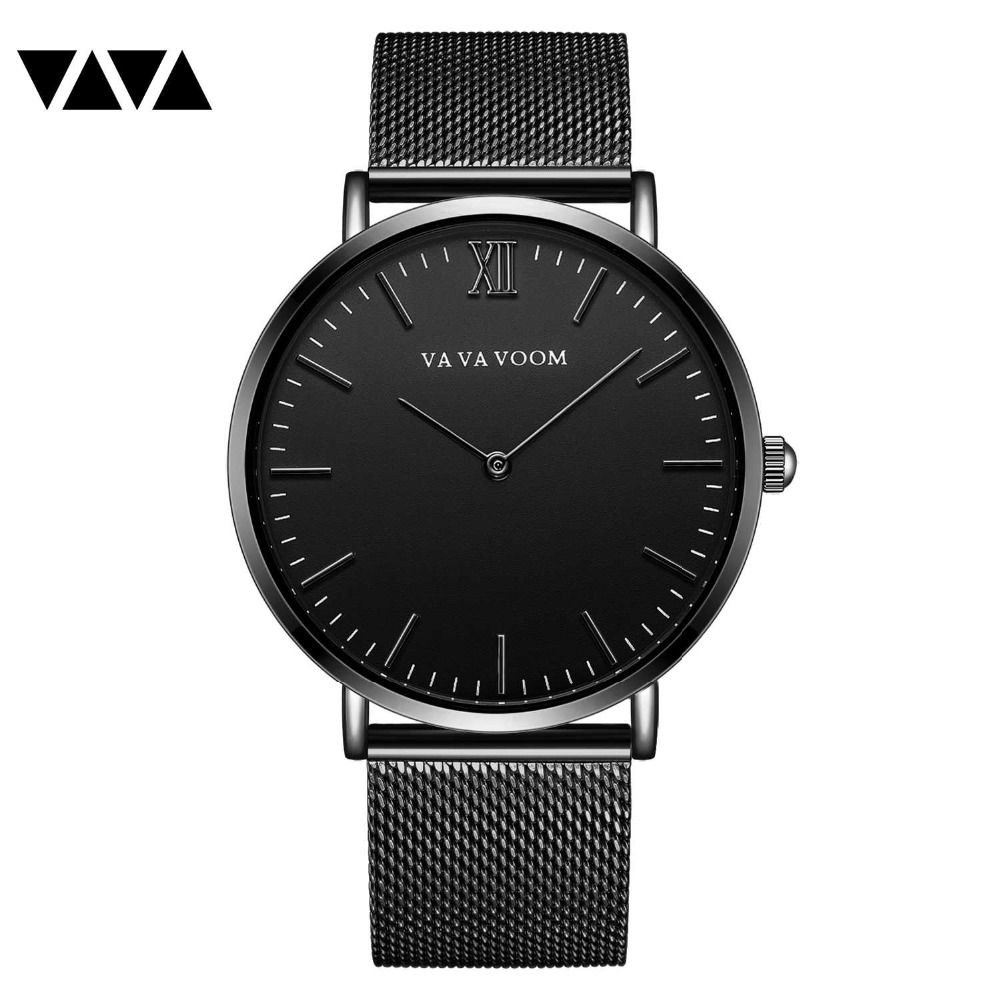 new arrival full black stainless steel mesh men watch luxury top brand quartz fashion wrist watch reloj hombre relogio masculino купить
