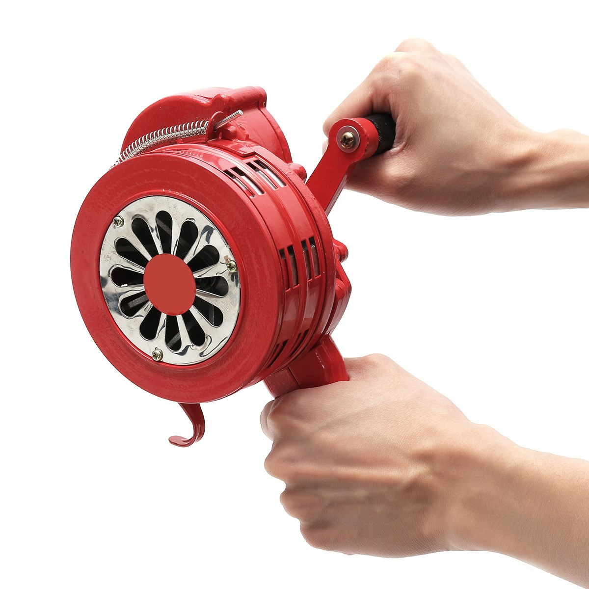 FGHGF 4.5 Red Aluminium Alloy Handheld Manual Operated Security Alarm Air Raid Siren Portable Safety Alarm Siren Red ac110v 160db motor driven air raid siren metal horn industry boat alarm