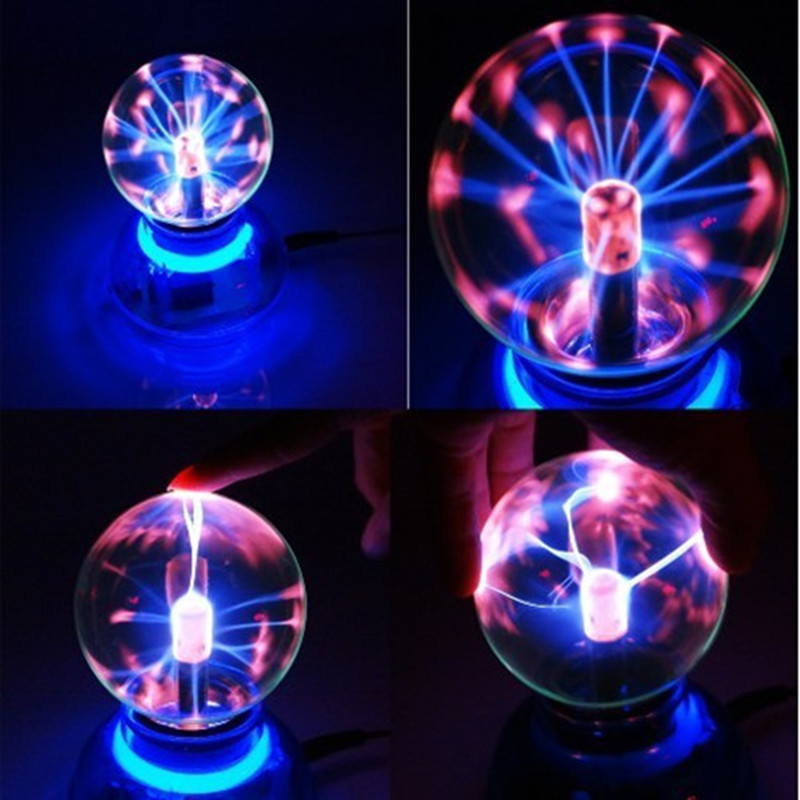 Crystal Magic Glass Plasma Ball Car Air Freshener Neon Sphere Negative Lon Car Cool Interior Light Car Sound Music Voice Control
