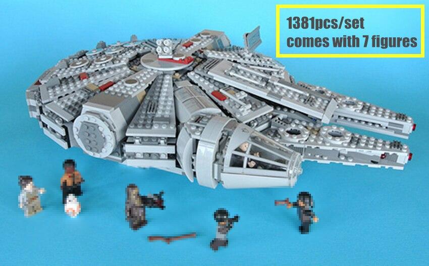 Nouvelle Force réveille les blocs de construction briques fit star wars millénium Falcon figures fit 10467 enfant garçon cadeau bricolage jouets