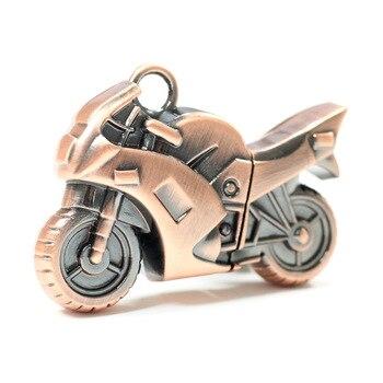 Fashion Motorcycle Metal Usb Flash Drive Pendrive 1TB 2TB Memory Stick 64GB 128GB Boy Gift Usb Creativo Pen Drive 32GB H2testw