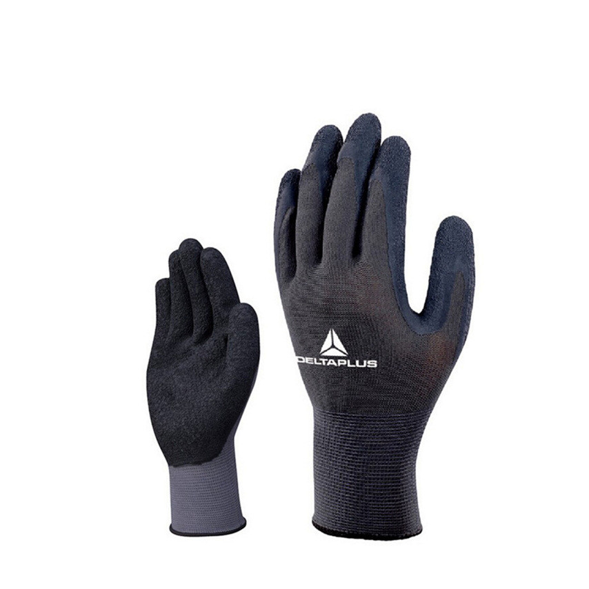 Latex Coated Glove Polyester Breathable Wear Resistant Tear Resilient Industrial Gloves