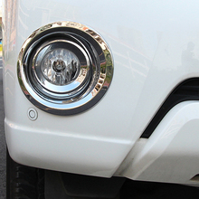 Free Shipping High Quality ABS Chrome Front Fog lamps cover Trim lamp shade For Toyota LAND CRUISER Prado Fj150