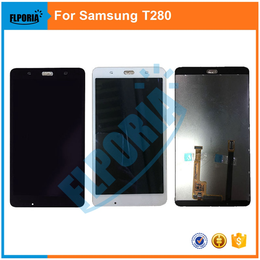 For Samsung Galaxy Tab A T280 Tablet  LCD Display+Touch Screen Digitizer Glass Assembly Replacement Parts Black&White
