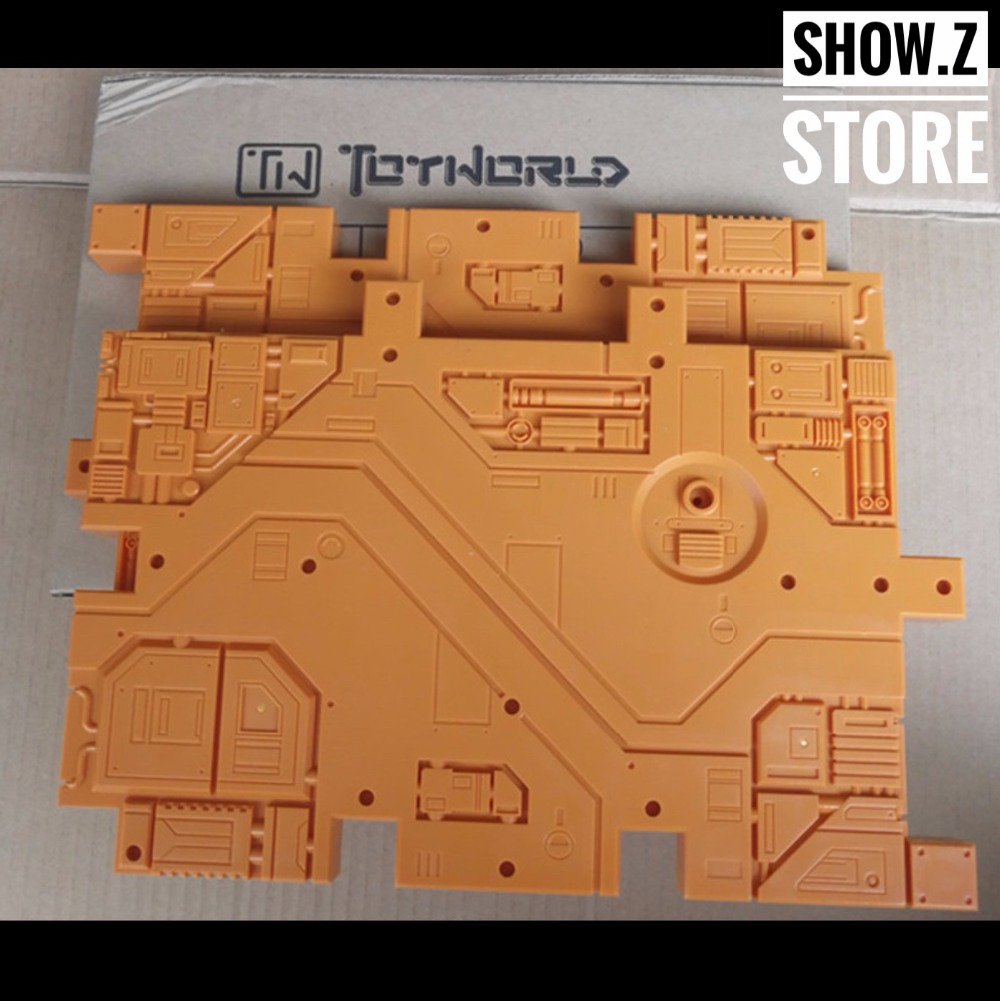 [Show.Z Store] Toyworld Display Bases 2 Pieces Orange Color Magic Transformation Action Figure