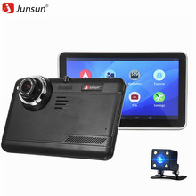 Junsun Full HD 1080p Car DVR Camera Android GPS Navigator Video Recorder Dual Lens With Rear View Camera Dash Cam