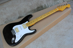 Free shipping New Arrival Stratocaster made in usa 6 string black HSH Electric Guitar custom body @31