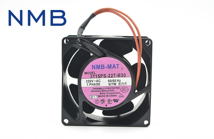 NMB Original 3115PS-22T-B30  AC 220V 9/7W 8038 80*80*38mm 3200RPM 2 Wires 50/60HZ Computer Blower Cooling Axial Fan