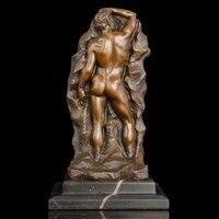 ATLIE Бронзовый Западной Современное Абстрактное Искусство Статуя милосердия фигурка телесного цвета человек бронзовые скульптуры Desktop бар
