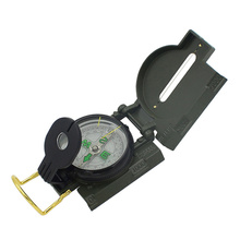 Folding Compass Multifunctional Ruler Magnifier Army Green Tools for  Outdoor Camping Hiking