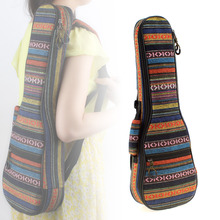 21 / 23 Inch Ukulele Backpack Small Portable Guitar Shoulder Gig Bag Soft Pad Cotton Thickening Folk Style Ukelele Case Cover
