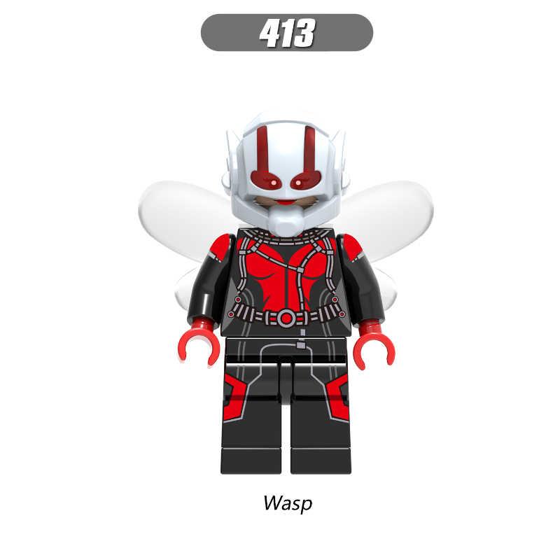 Vente unique Super héros la planète vivante Wally West le Flash Ego guêpe Spider-Man blocs de construction enfants cadeau jouets