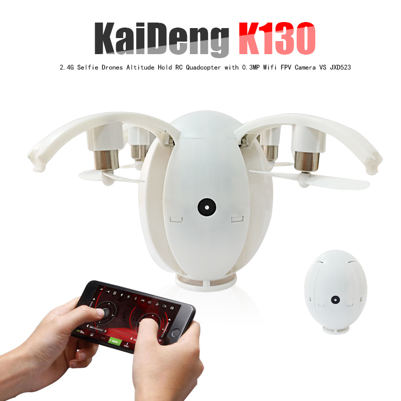 KaiDeng K130 Foldable Transformable Flying Egg Dron 2.4G Selfie Drones Altitude Hold RC Quadcopter with 0.3MP Wifi FPV Camera