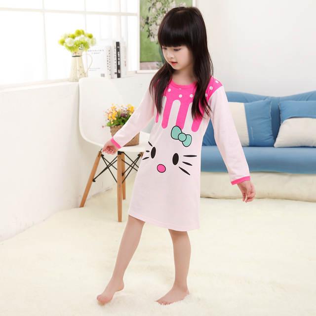2baa0cbf2371 Online Shop Girl Home Clothes 3-11Y 2018 Autumn   autumn Style Girl ...