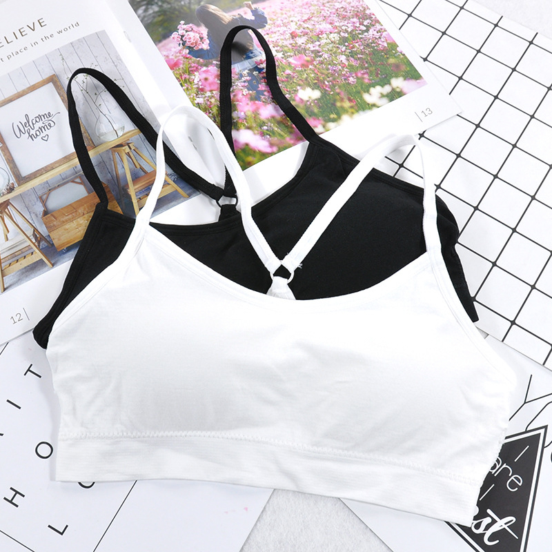 Fitness Top Women Push Up Sports Bra Yoga Bra For Cup A-D Sport Bra Letters Black White Running Yoga Gym Fitness Crop Top Women