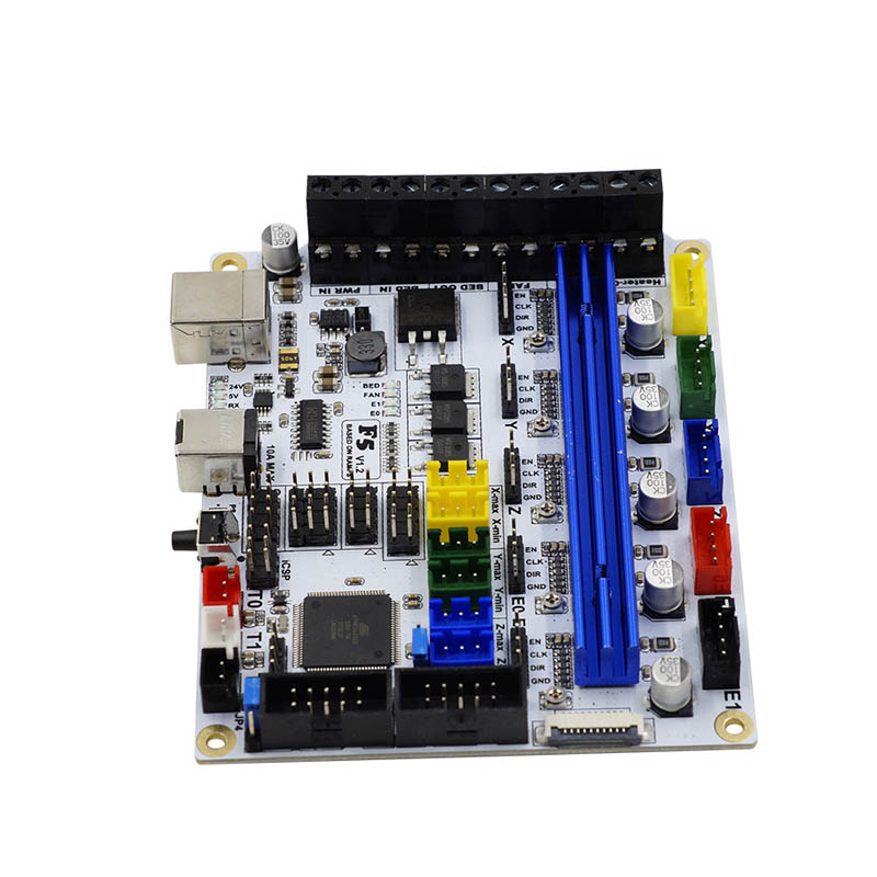 Newest 3D Printer F5 V1.2 Motherboard MKS Controller Board with TFT28 2.8Inch Display Screen USB Cable EM88 mks gen v1 4 motherboard mks controller board with tft28 v3 0 display screen usb cable set sl 88