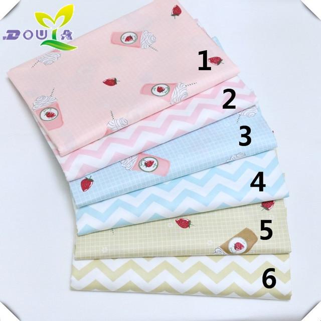 Cartoon Ice Cream Cotton Fabric Strawberry Printing And Whole Baby Cloth Nursery