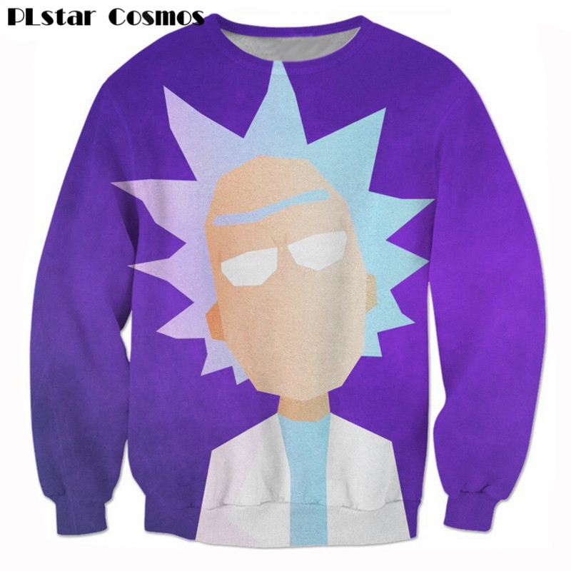 Funny Morty printing 3d Sweatshirt Cartoon jumper Rick and Morty Sweats Women Men Outfits Hoodies plus size 4XL 5XL