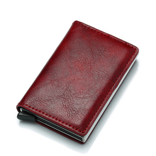 Women Wallet Short Purse Business Thin Rfid Card Holder Men Wallets Money Bag Male Vintage yellow Small Leather Slim Mini 2019 стоимость