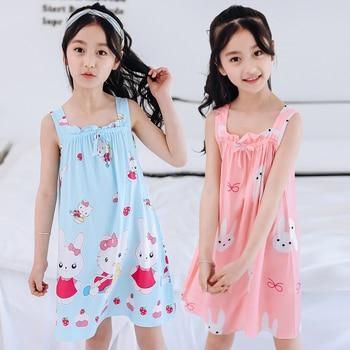 38440df35 Niño niña camisón pijamas de verano vestidos de algodón de pijamas de bebé  de conejo de dibujos animados princesa casa irlandés mini chica ropa de  dormir ...