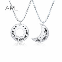 One Pair Dothraki Khal Khaleesi Game Of Thrones Necklace 316L Round Silver Rose Gold Stainless Steel