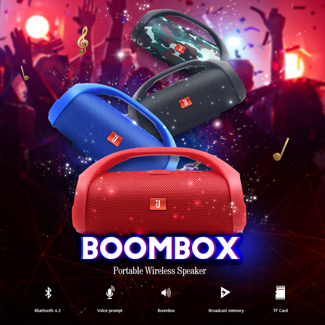 Portable Bluetooth Speaker Wireless Car Loudspeaker Box Sound System Stereo Music Surround Outdoor Speaker 1