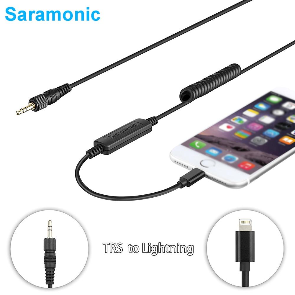 Saramonic LC-C35 Locking 3.5mm Male Connector TRS for Lightning Output Cable for Saramonic Microphones LavMic SR-WM4C UwMic9 10 микрофон saramonic sr pmic3
