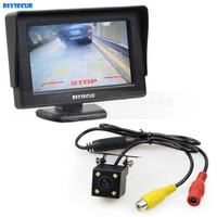 DIYSECUR Wire 4.3 inch TFT LCD Car Monitor Rear View Kit Reversing HD LED Camera Auto Parking Assistance System