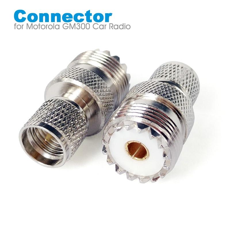 Mini UHF Male To UHF Female SO239 PL259 Connector RF Coaxial Coax Adapter For Motorola GM300 SM120 GM338 Car Radio Walkie Talkie