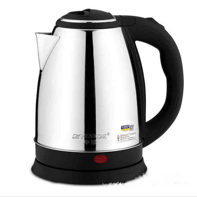 220V 2L Stainless Steel Safety Auto-Off Function Quick Heat Electric Kettle Household  Electric Boiling Pot EU/AU/UK Plug 220v household 1 2l electric kettle food grade 304 stainless steel inner anti scald material fast boiling eu au uk plug