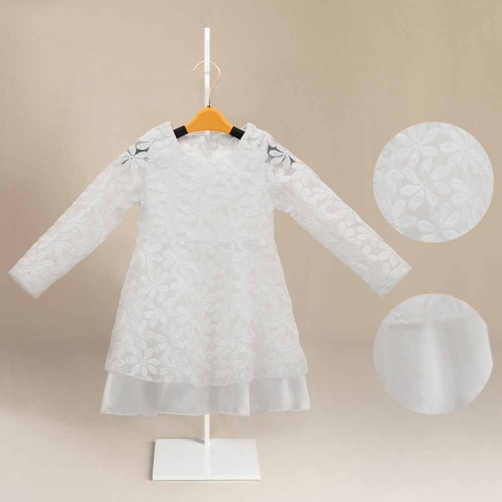 b56bf8b58 New Fashion Kids Toddler Baby Girl Clothes Flower White Beautiful ...