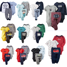 Kids Costumes sets Bebes Suits Outfits  Cartoon Newborn Baby Set 100% Cotton Boy Clothes Infant Clothing 3pcs Summer