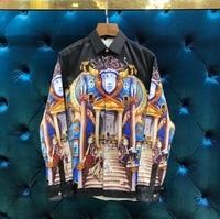 2018 new High Quality fashion Blouses & Shirts Runway Summer man Brand Luxury Men's Clothing A5001878