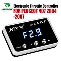 자동차 전자 스로틀 컨트롤러 레이싱 가속기 푸조에 대한 강력한 부스터 407 2004-2007 튜닝 부품 액세서리