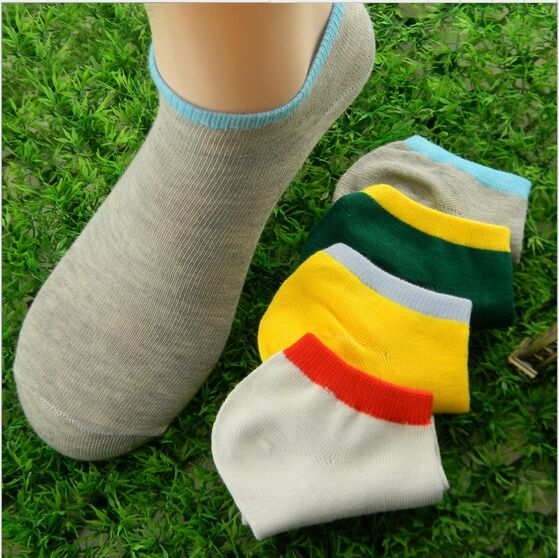 Wholesale Price 5 Pairs/lot Korean Candy Colors Sport Socks Cotton Invisible Soks For Me ...